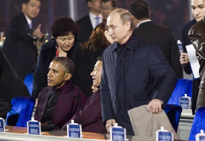 Putin i Obama podczas pekińskiego szczytu /PAP/EPA