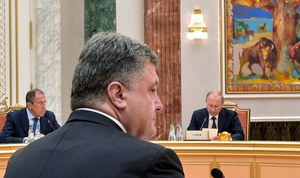 Putin i Poroszenko o rozmowach w Mińsku