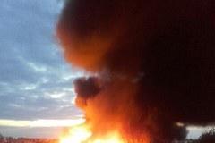 Pysząca. Pożar składowiska odpadów