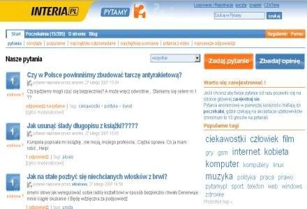 Pytamy.pl w portalu INTERIA.PL /INTERIA.PL