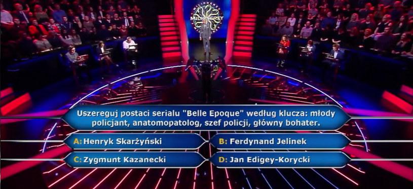 "Pytanie o serial ""Belle Epoque"" /TVN"