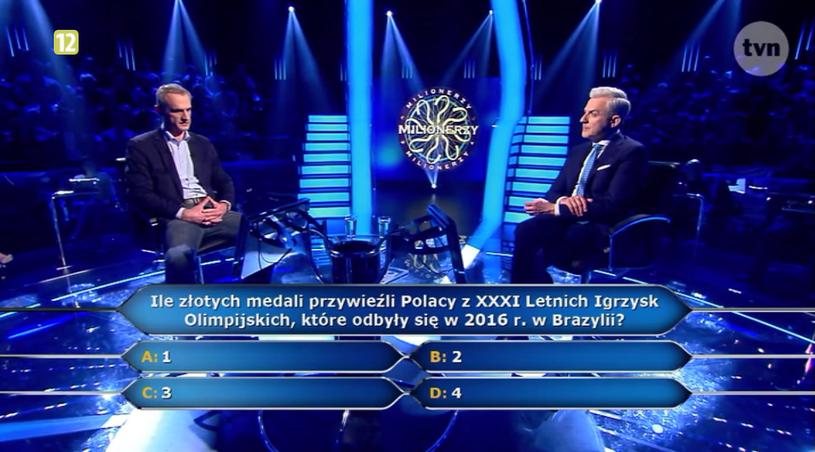 Pytanie za 5 tys. złotych okazało się nie takie łatwe /TVN
