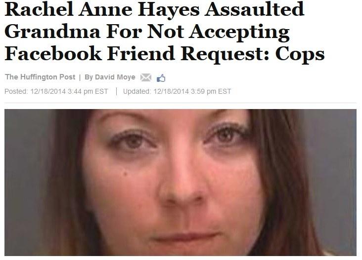 Rachel Anne Hayes zaatakowała własną babcię /