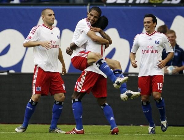 Radość HSV Po golu Guerrero. /AFP