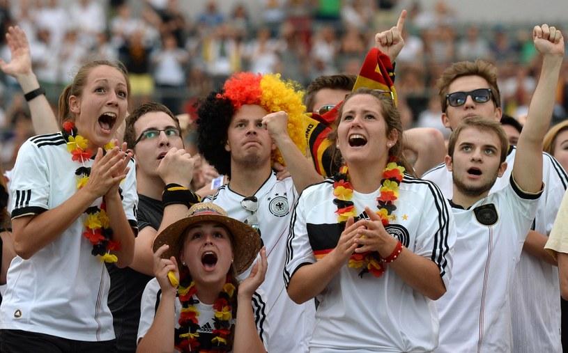Radość kibiców niemieckich po awansie ich drużyny do półfinału /AFP
