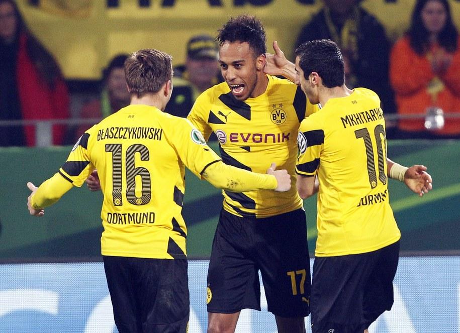 Radość piłkarzy Borussii Dortmund /FRISO GENTSCH /PAP/EPA