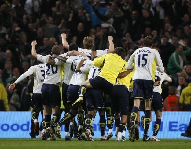 Radość piłkarzy Tottenhamu /AFP