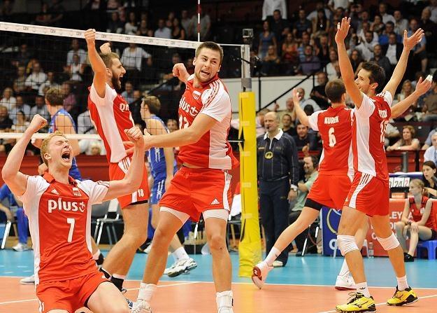 Radość Polaków po zwycięstwie nad Rosją w meczu o brązowy medal ME /PAP/EPA