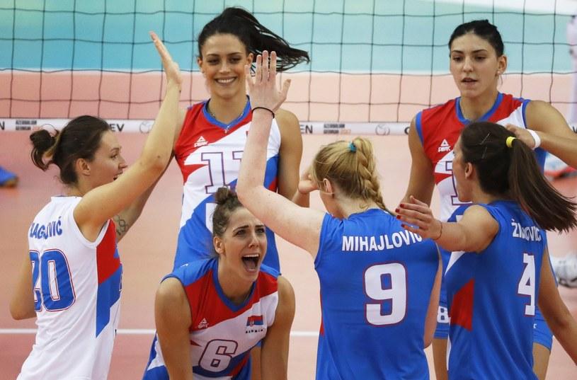 Radość Serbek z awansu do półfinału ME /PAP/EPA