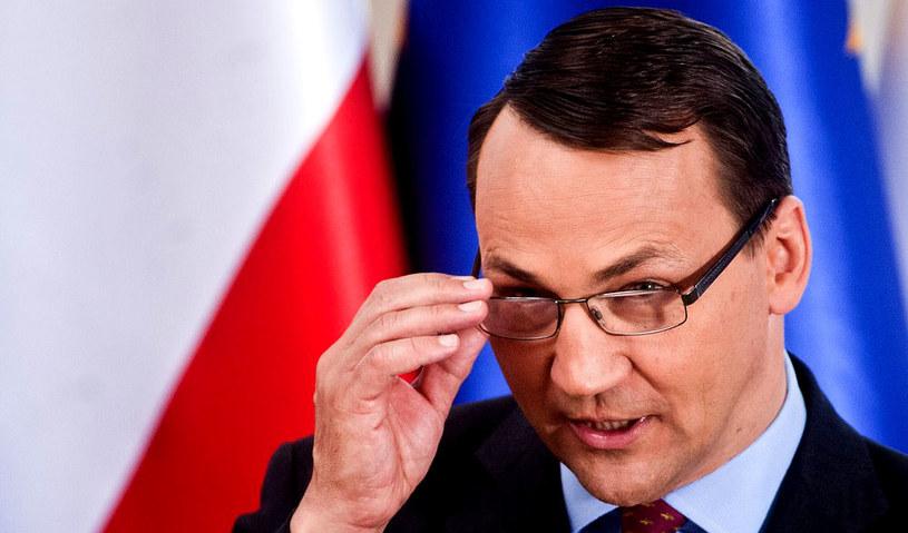 Radosław Sikorski, szef polskiego MSZ. /Adam Guz /Reporter