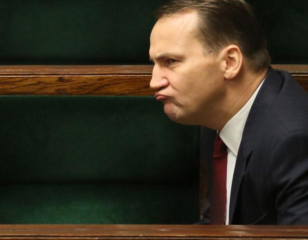 Radosław Sikorski w zeszłym tygodniu w Sejmie /PAP