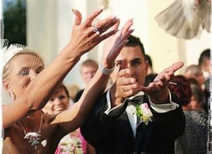 Radosny dzień zaślubin