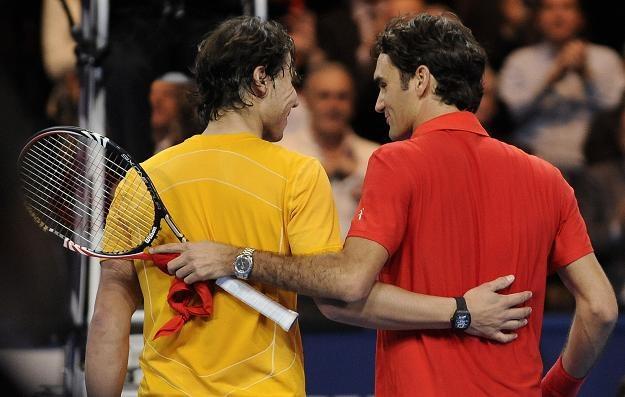 Rafael Nadal i Roger Federer (z prawej) /AFP