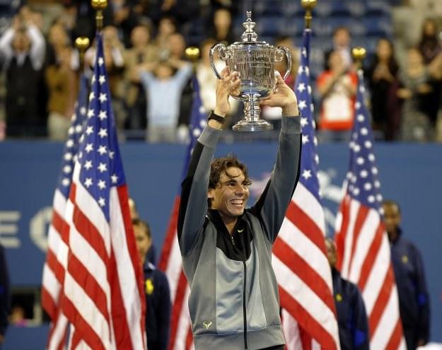 Rafael Nadal ma na koncie dziewięć zwycięstw w turniejach Wielkiego Szlema /AFP