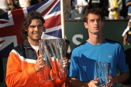 Rafael Nadal (z lewej) i Andy Murray /AFP