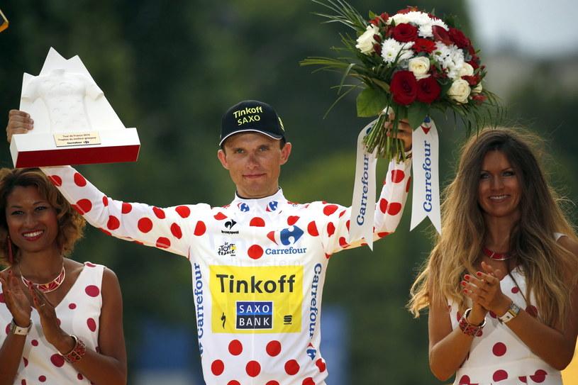 """Rafał Majka - najlepszy """"góral"""" 101. edycji Tour de France /PAP/EPA"""
