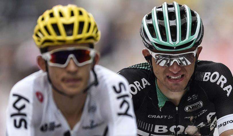 Rafał Majka (z prawej) i Michał Kwiatkowski podczas Tour de France /AFP
