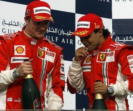 Raikkonen i Massa celebrują dublet na Sakhir /AFP