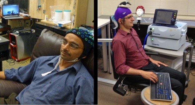 Rajesh Rao i Andrea Stocco w pionierskim eksperymencie połączyli swoje mózgi /materiały prasowe