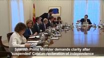 Rajoy wzywa Puigdemonta do sprecyzowania stanowiska rządu Katalonii ws. niepodległości