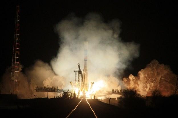 Rakieta Soyuz startuje z kosmodromu Baikonur /AFP