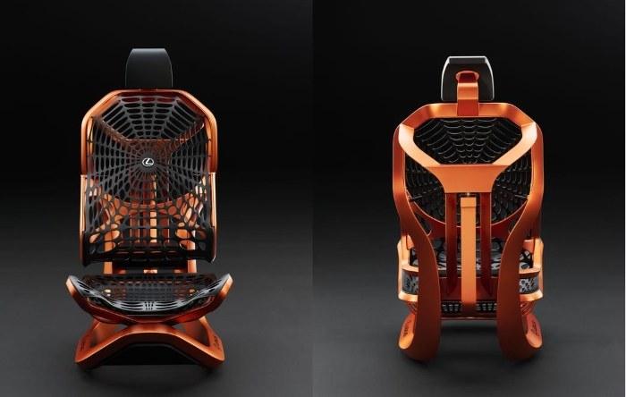 Rama fotela opleciona jest wzorowaną na pajęczynie siatką /INTERIA.PL/informacje prasowe