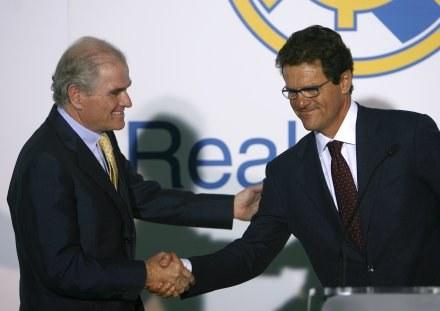 Ramon Calderon i Fabio Capello szybko zapomnieli o dobrych relacjach /AFP
