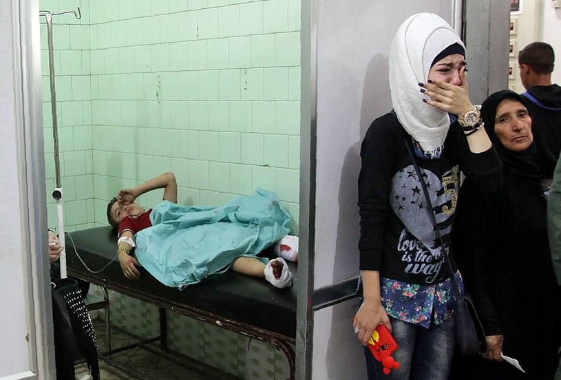 Ranne dziecko w syryjskim szpitalu /AFP