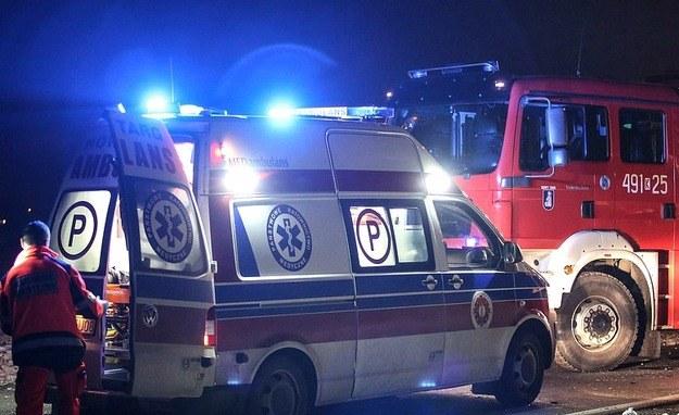 Ranni zostali rzetransportowani do szpitala /Michał Adamowski /Reporter
