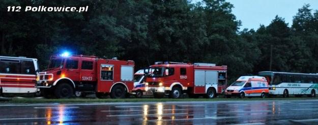 Rannych zostało 29 osób / Fot: 112polkowice.pl /