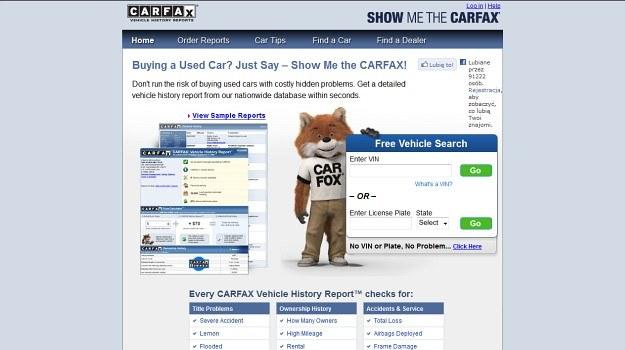 Raporty VIN aut z USA (CarFax, Autocheck) kryją nie tylko historię wypadków, ale często także zdjęcia z aukcji. /Motor