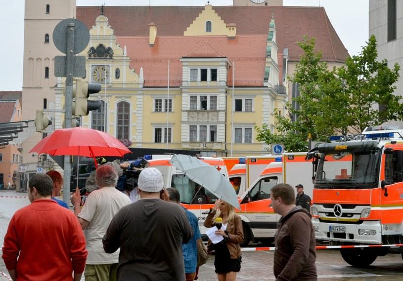 Ratusz w Ingolstadt, w którym są zakładnicy /PAP/EPA