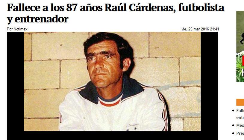Raul Cardenas nie żyje / fot. http://www.jornada.unam.mx /