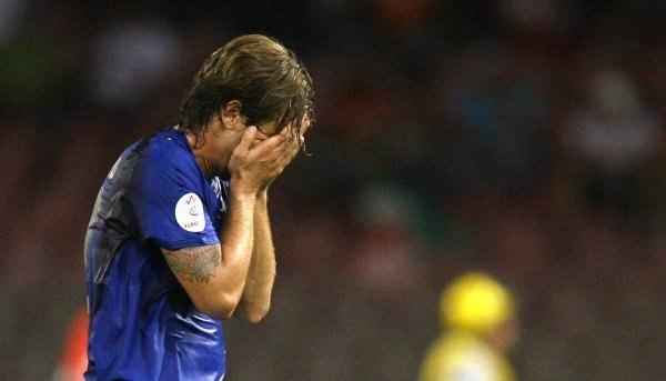 Reakcja Antonio Cassano mówi wszystko. Włosi zaledwie zremisowali z Litwą 1:1 /AFP