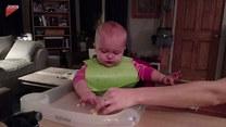 Reakcja dziecka na nowy smak. Mina mówi wszystko