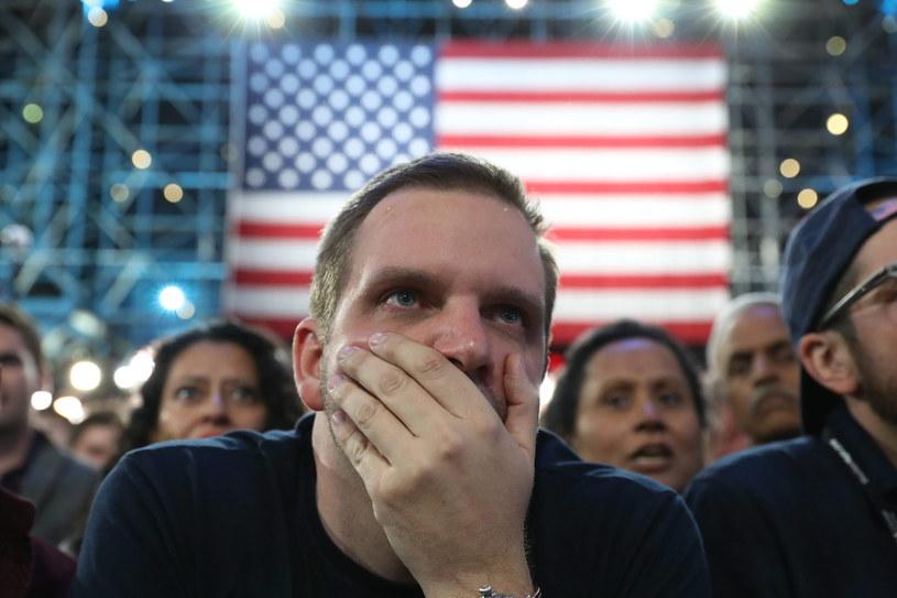 Reakcja wyborców Hillary Clinton /ANDREW GOMBERT /PAP/EPA