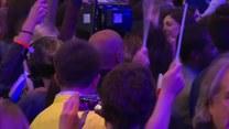 Reakcja zwolenników Macrona na wyniki pierwszej tury wyborów prezydenckich