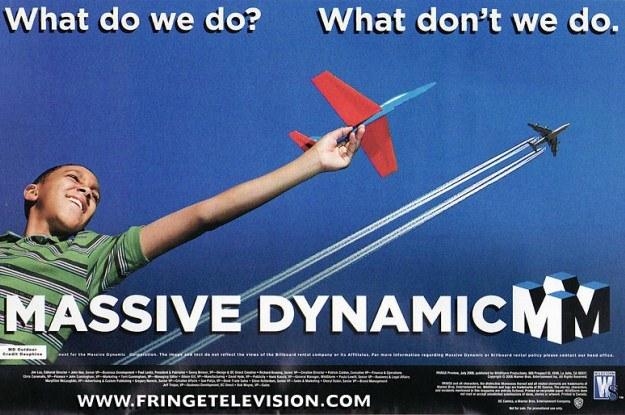 Reklama promująca Massive Dynamic /materiały prasowe