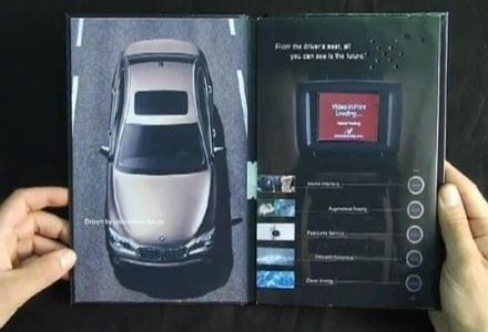 Reklama wideo w magazynie drukowanym: po rozłożeniu czasopisma rozpoczyna się odtwarzanie filmu /HeiseOnline