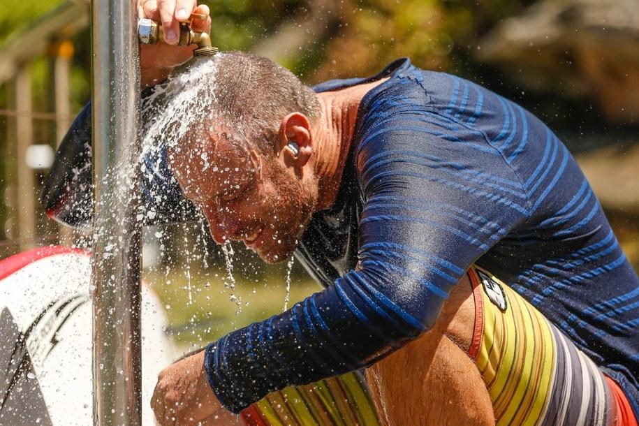 Rekordowe upały w Sydney /Matt Campbell /PAP/EPA