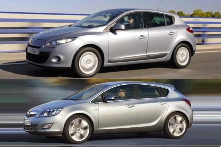 Renault megane i opel astra /INTERIA.PL