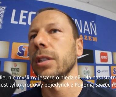 Rene Poms przed meczem Pogoń - Lech