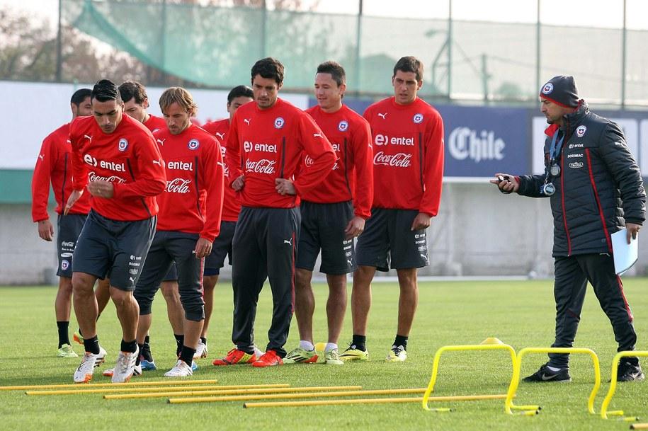 Reprezentacja Chile podczas treningu /CARLOS PARRA/ANPF    /PAP/EPA
