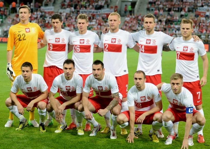 Reprezentacja Polski przed meczem z Mołdawią /Bartłomiej Zborowski /PAP