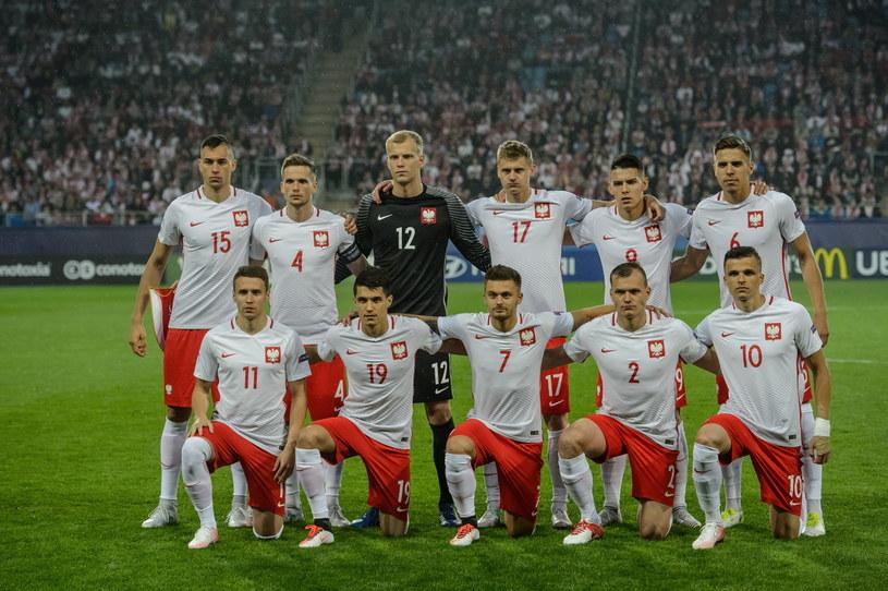 Reprezentacja Polski przed meczem ze Słowacją /Wojciech Pacewicz /PAP