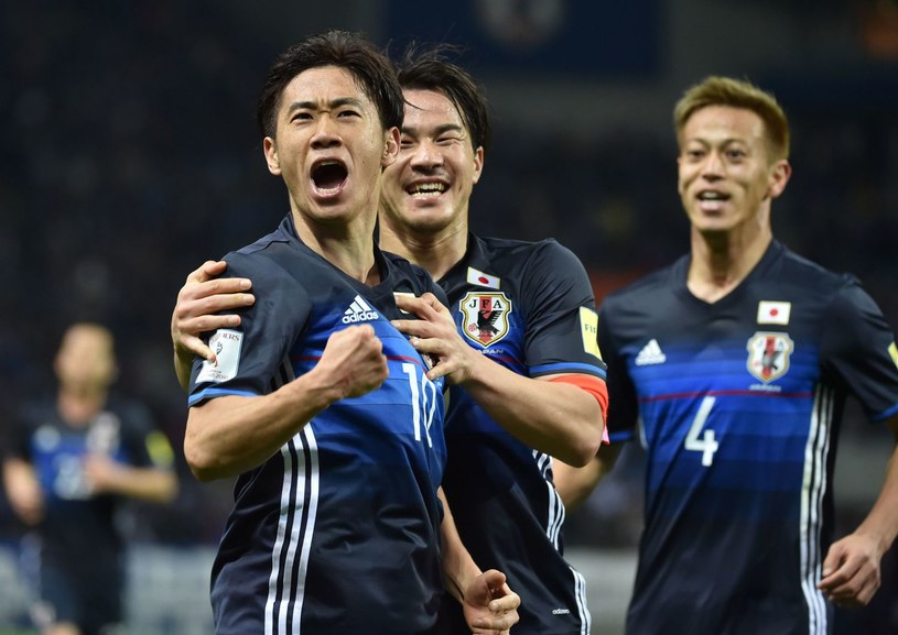 Reprezentanci Japoni, od lewej: Shinji Kagawa, Shinji Okazaki, Keisuke Honda /JIJI PRESS /AFP