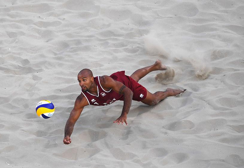 Reprezentant Kataru w siatkówce plażowej /Getty Images