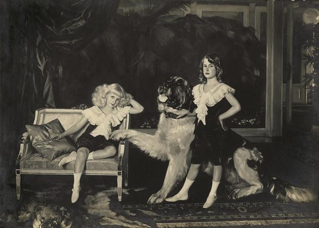 Reprodukcja obrazu Kazimierza Mordasiewicza z 1912 r. przedstawiającego Jontka i Karla oraz Lorda /Archiwum autora
