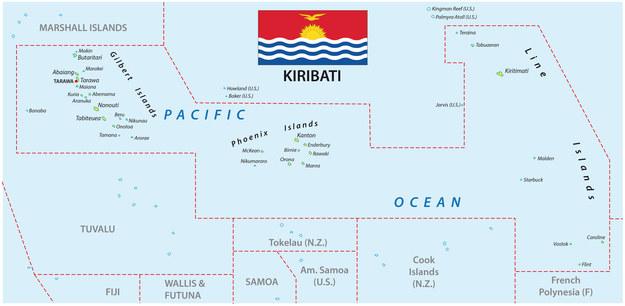 Republika Kiribati leży na Oceanie Spokojnym /123/RF PICSEL