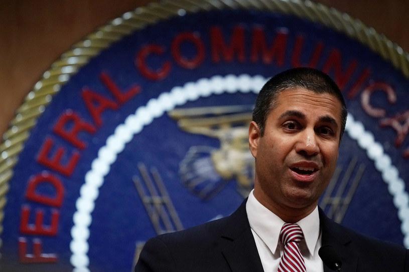 Republikański przewodniczący FCC, Ajit Pai - obecnie wróg publiczny numer jeden internautów w USA /AFP